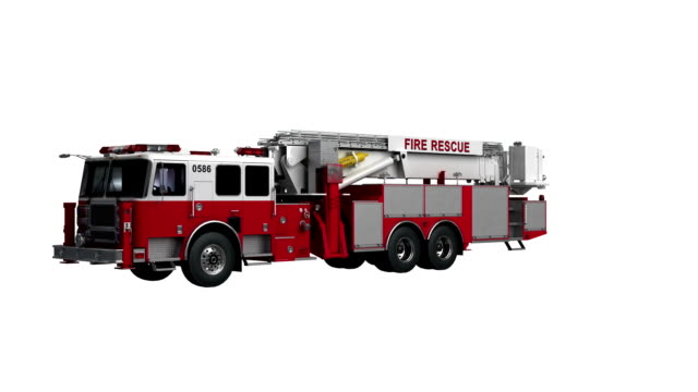 fire engine usa spin isolated with luma matte - fire engine stock videos & royalty-free footage