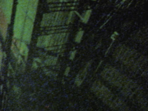 fire escape in dark alley at night - fire escape stock videos and b-roll footage