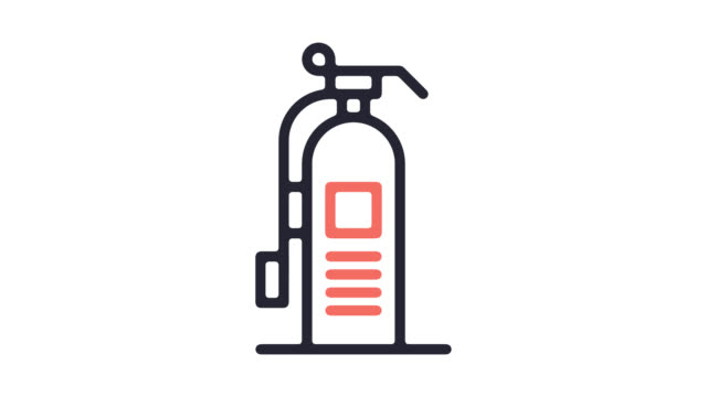 fire extinguisher line icon animation with alpha - fire extinguisher stock videos & royalty-free footage