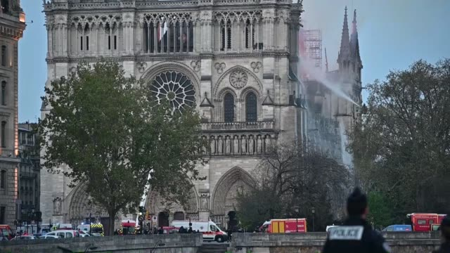 fire fighters said monday they are not sure if they will be able to save the iconic notre dame cathedral in paris after a massive fire gutted it.... - notre dame de paris stock videos & royalty-free footage
