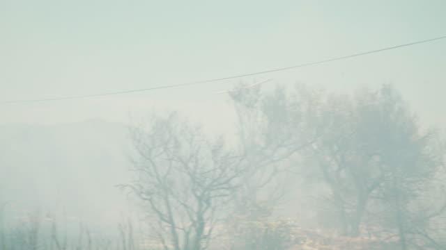 vídeos y material grabado en eventos de stock de fire fighting with helicopter - smoke physical structure