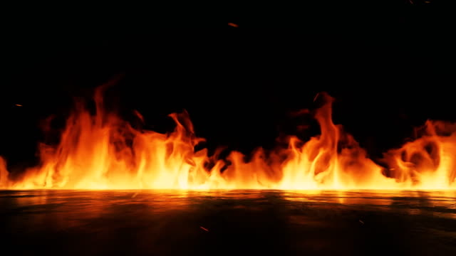 fire flame background 4k stock video - fuoco video stock e b–roll