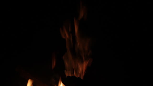 fire flames, and fire burning wood of bonfire - tilt stock videos & royalty-free footage
