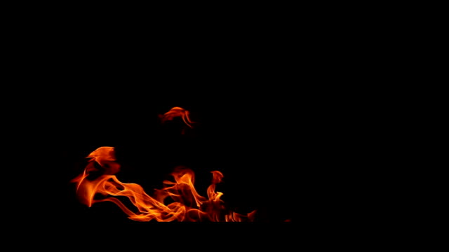 fire flames isolated on black - fire extinguisher stock videos & royalty-free footage