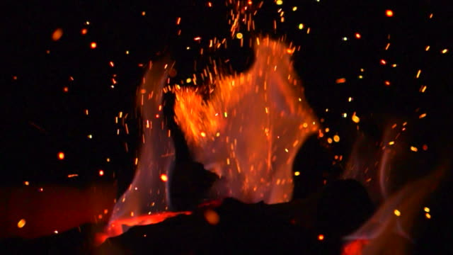 fire flames (super slow motion) - fire natural phenomenon stock videos & royalty-free footage