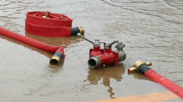 fire hose - yard measurement stock videos and b-roll footage