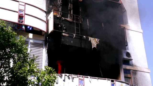 fire in apartment - arson stock videos & royalty-free footage