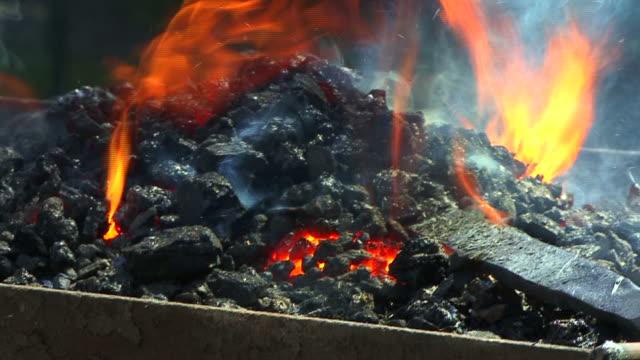 Fire in Blacksmith Shop