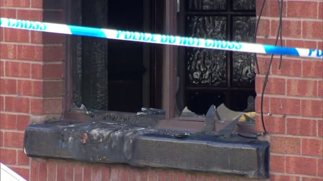 fire in bolton kills mother and three children england greater manchester bolton ext various shots house after fire - bolton greater manchester stock videos and b-roll footage