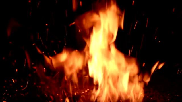 焚き口の炎 - film composite点の映像素材/bロール