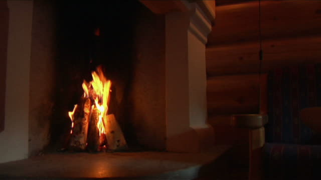 fire in the oven. - fireplace stock videos and b-roll footage