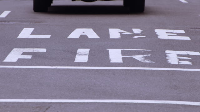 fire lane sign on 5th avenue - human limb stock videos & royalty-free footage