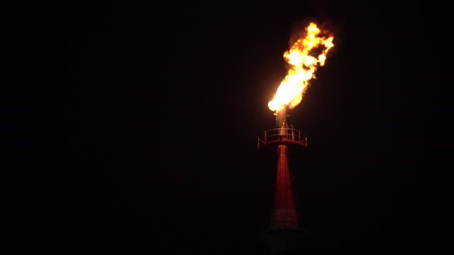 fire on rig at night - plusphoto stock videos & royalty-free footage