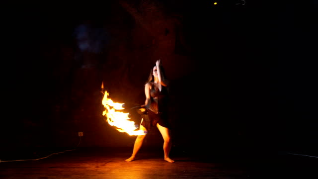 fire performer. fire dance. - exoticism stock videos & royalty-free footage