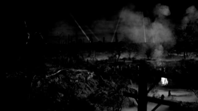fire rains down from the sky during a military air raid. - 1943 stock videos & royalty-free footage