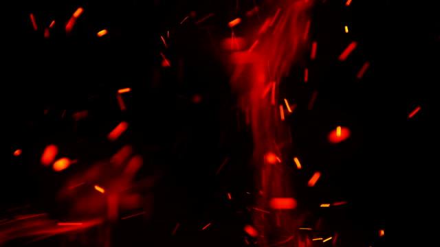 vídeos y material grabado en eventos de stock de fondo de chispas de fuego - sparks