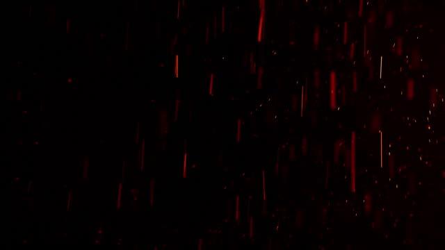 vídeos de stock, filmes e b-roll de fogo acende partículas (um modo de mistura adicionar, tela pode ser usado para remover o fundo) - efeito especial