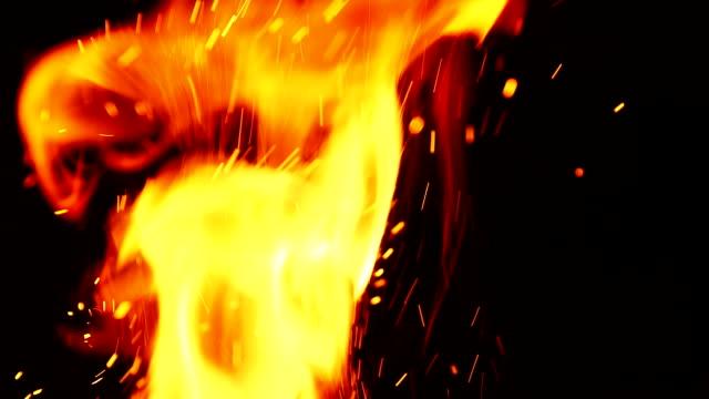 火の火花 - 炎点の映像素材/bロール