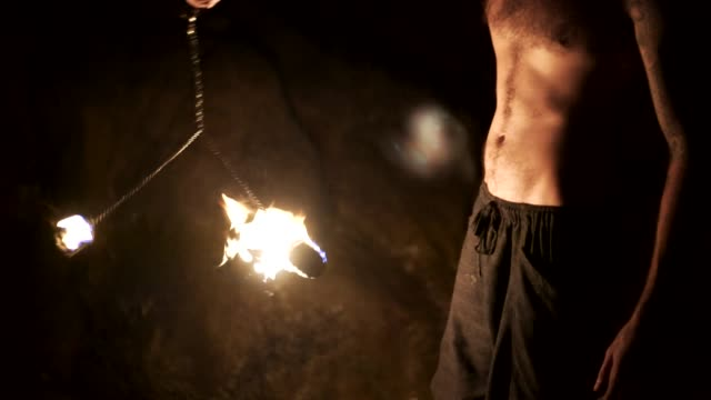 fire spinning - ko phangan stock videos and b-roll footage