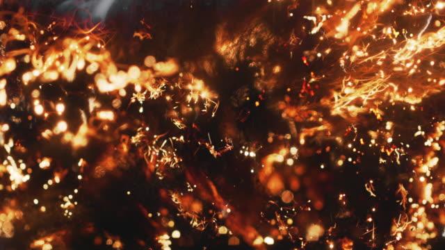 brand sprider sig snabbt genom stålull, en hel del gnistor - terrorism bildbanksvideor och videomaterial från bakom kulisserna