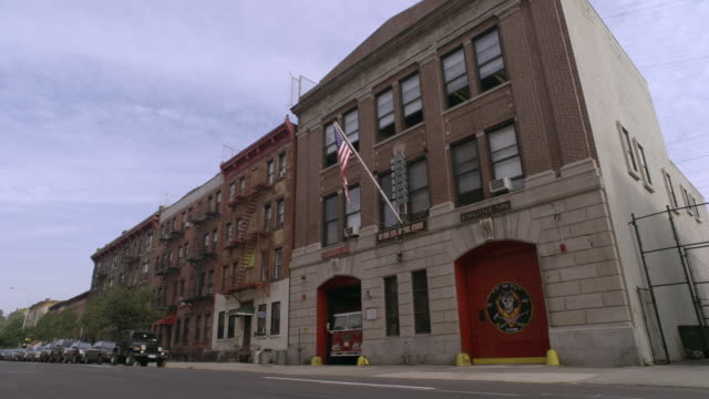 ws, fire station, brooklyn, new york city, new york, usa - fire station stock videos & royalty-free footage