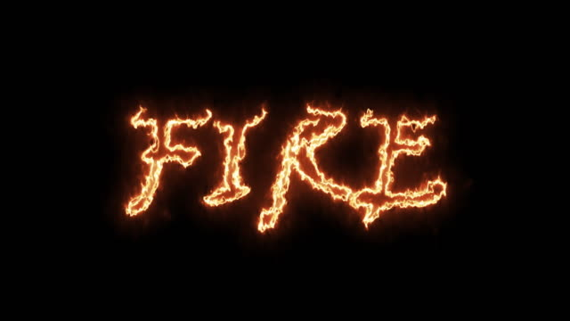 4k fire text stock video - capital letter stock videos & royalty-free footage