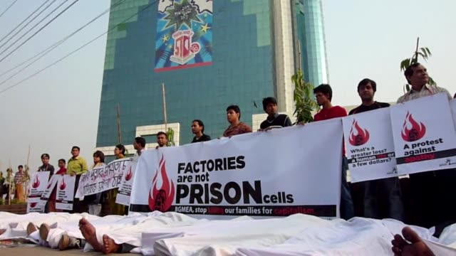 fire that killed 111 workers at a bangladesh garment factory last month was an act of sabotage and managers at the plant prevented victims from... - sabotage stock videos & royalty-free footage