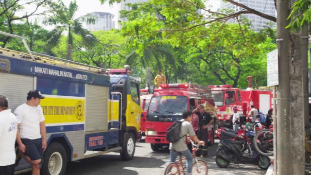 Fire Truck Crew at the Manila Peninsula Hotel, Makati