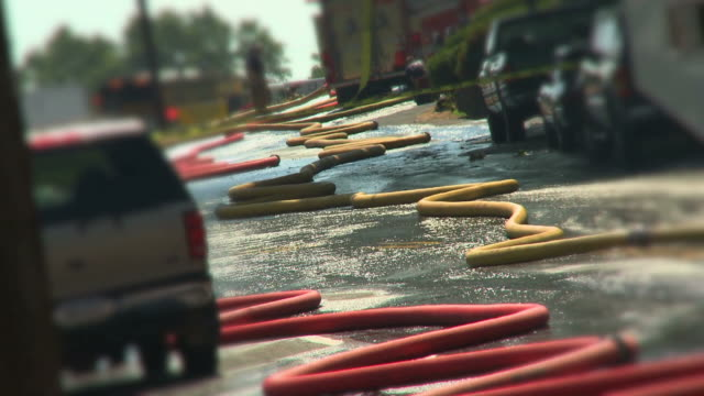 fire truck & hoses #6 - fire hose stock videos and b-roll footage