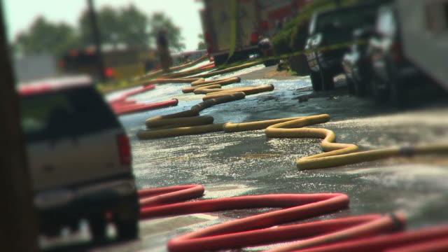 stockvideo's en b-roll-footage met fire truck & hoses #6 - fire hose