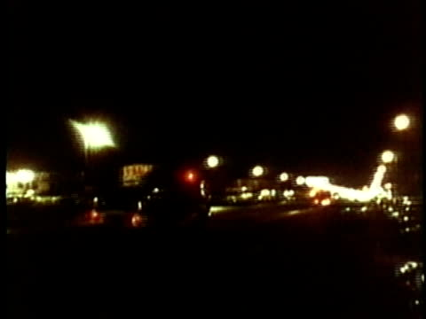 fire truck rushing past on city street during race riots at night/ car pov ws exterior of building engulfed in flames on city street/ usa/ audio - hopelessness stock videos & royalty-free footage
