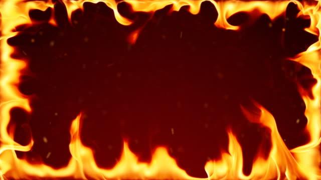 火災 - 茶色背景点の映像素材/bロール