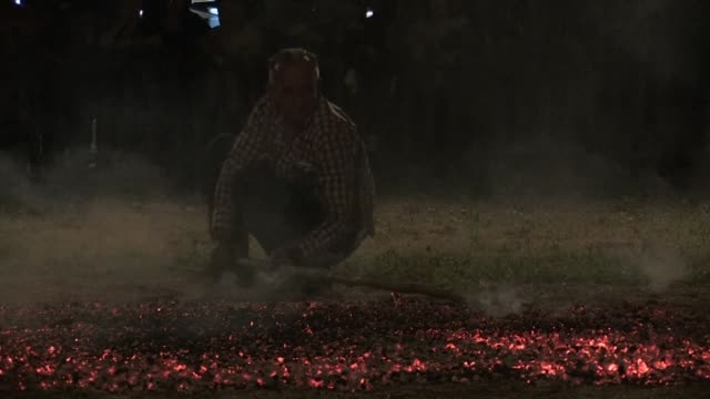 GRC: Fire walking ritual in northern Greece lives on