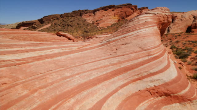 Fire Wave rock formation at Valley of Fire State Park in Nevada
