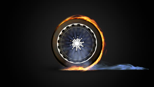 fire wheel - tyre stock videos & royalty-free footage