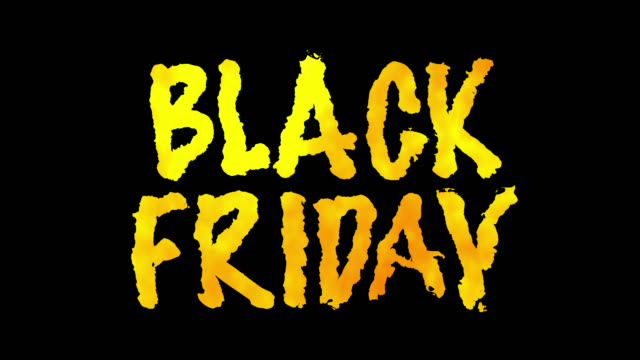 """""""black friday"""" fire words with alpha channel. loop 45 seconds. - poster template stock videos and b-roll footage"""