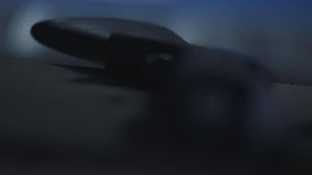 firearm close up, pull focus to barrel of gun - gun barrel stock videos & royalty-free footage