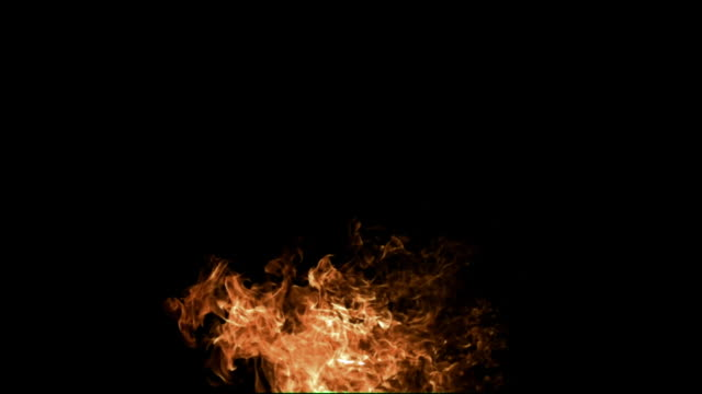 SLO MO, fireball against black background