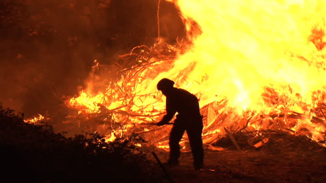 hd: firefighter at work - rescue stock videos & royalty-free footage