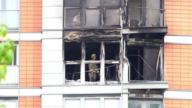 GBR: Fire Breaks Out At East London Tower Block