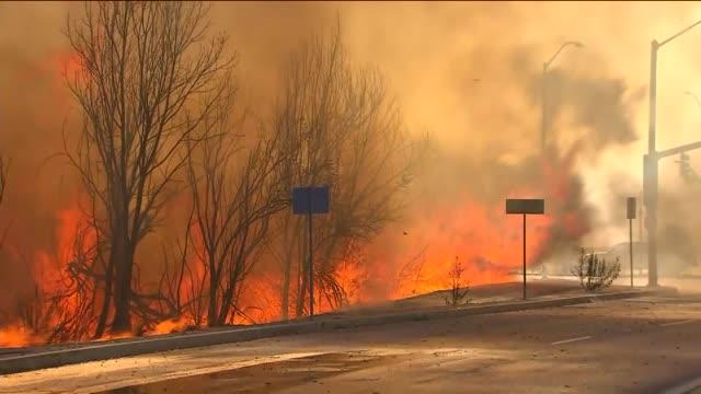 KTLA Firefighters Battle A Blaze in Montebello on August 16 2015