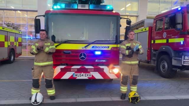 firefighters from weymouth fire station applaud for all the key workers on april 09, 2020 in weymouth, united kingdom. following the success of the... - occupation stock videos & royalty-free footage