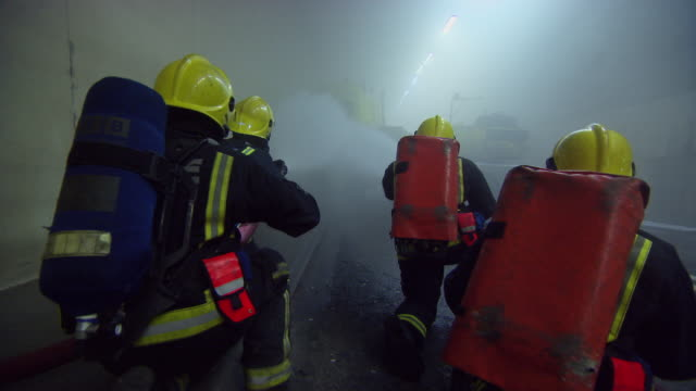 ms firefighters in action / london, england, united kingdom - firefighter stock videos and b-roll footage