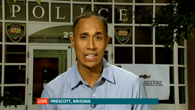 19 firefighters killed fighting Arizona wildfire Miguel Almaguer interview SOT from Prescott Arizona