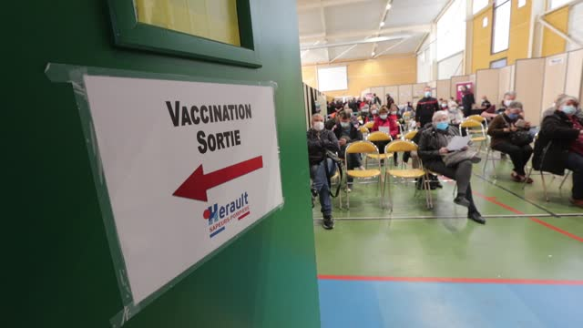 FRA: Firefighters Manage A Covid-19 Vaccination Center In South Of France In Vailhauquese