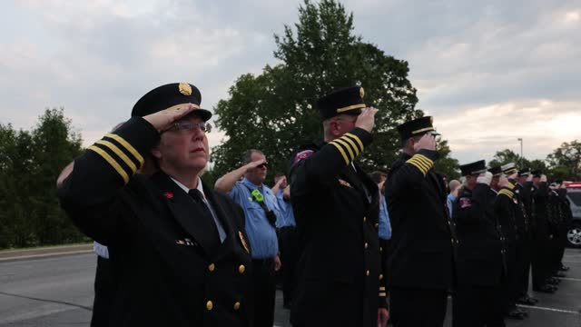 IN: First Responders Attend 20th Anniversary 9/11 Memorial Ceremony In Indiana