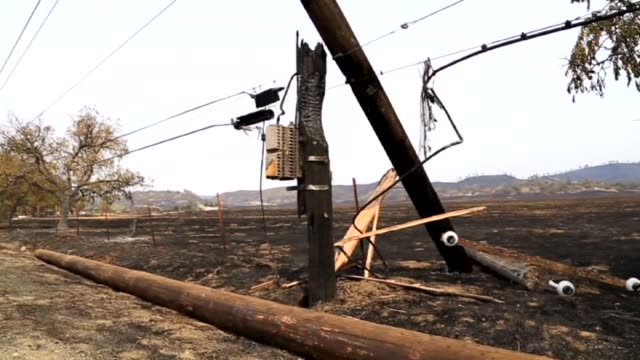 firefighters work at the scene that burned in a fire in lake county, northen california on september 16, 2015. around 68,000 hectares of land has... - 2015 stock videos & royalty-free footage