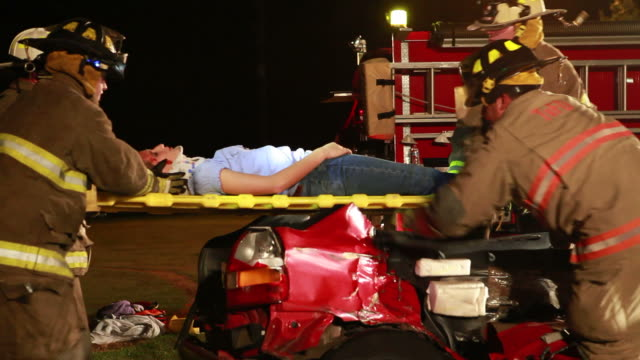 fireman at rescue - stretcher stock videos & royalty-free footage