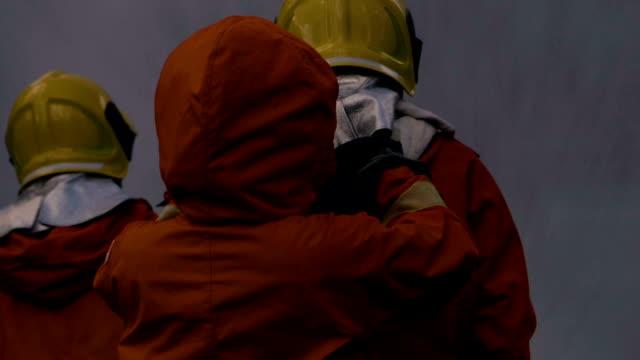 fireman preparation headwear - headwear stock videos & royalty-free footage