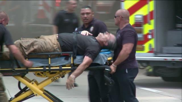 kiah firemen being taken into ambulance on may 31 2013 in houston texas - fire alarm stock videos & royalty-free footage